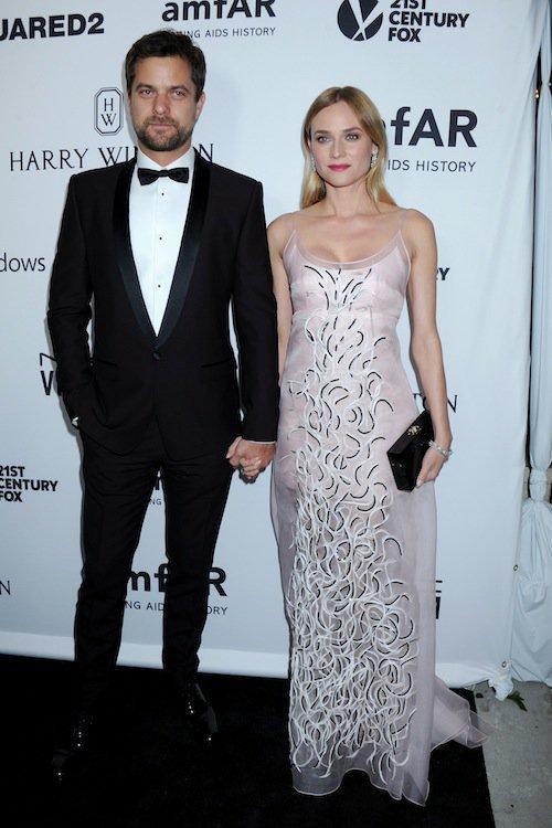 Diane Kruger et Joshua Jackson au gala de l'AmfAR à Los Angeles, le 29 octobre 2015