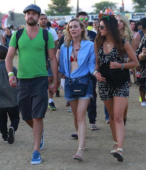 Photos : Diane Kruger, Joshua Jackson et Nina Dobrev : trio de choc à Coachella !
