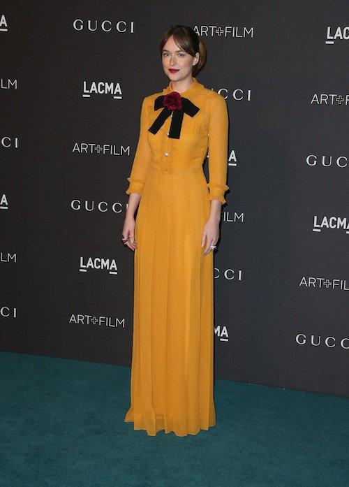 Dakota Johnson au gala LACMA, à Los Angeles, le 7 novembre 2015 !