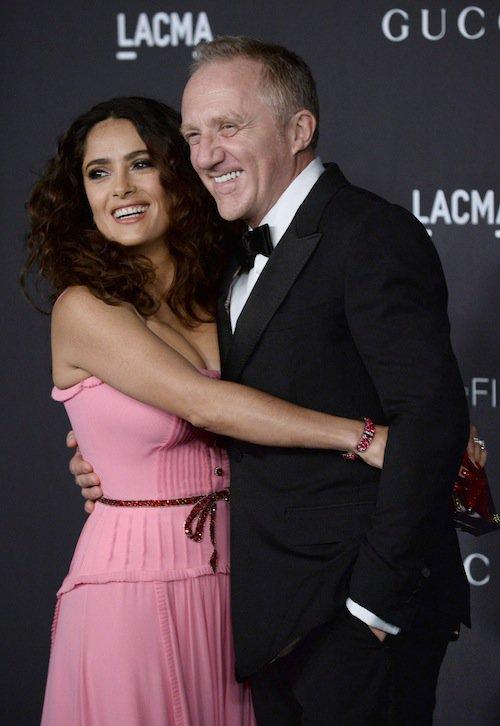 Salma Hayek et François-Henri Pinault au gala LACMA, à Los Angeles, le 7 novembre 2015 !