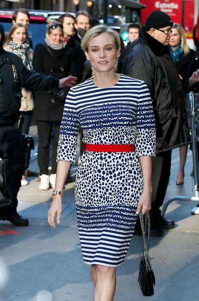 Diane Kruger se rendant sur le plateau de Good Morning America à New York, le 28 mars 2013.