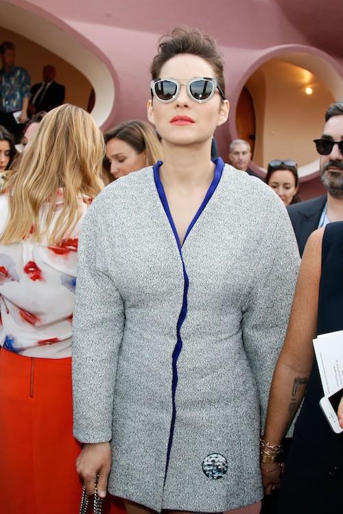 Marion Cotillard au défilé Dior Cruise 2016 à Cannes, le 11 mai 2015