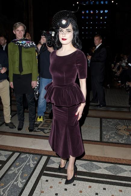 Diva Von Teese, Londres, 16 septembre 2012.