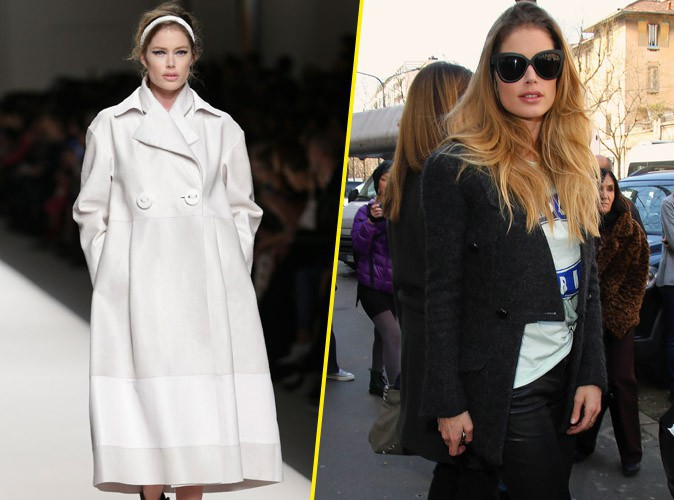 Doutzen Kroes : au top à la Fashion Week de Milan, elle défile pour Fendi !