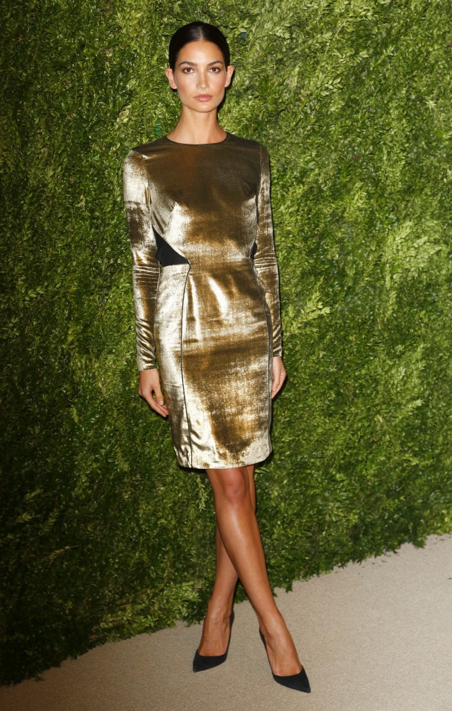 """Lily Aldridge lors de la soirée """"CFDA/Vogue Fashion Fund Awards"""" à New York, le 11 novembre 2013."""