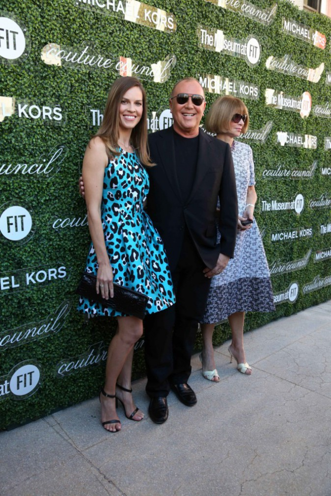 Hilary Swank, Michael Kors et Anna Wintour à New York, le 4 septembre 2013.