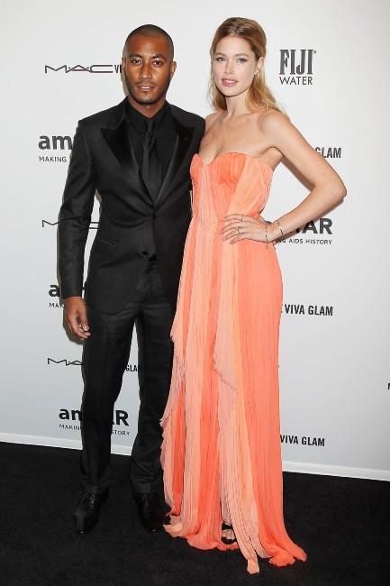 Doutzen Kroes et son mari Sunnery James lors du gala de l'amfAR à New York, le 6 février 2013.