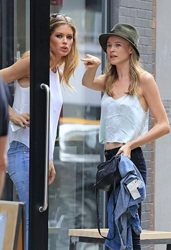 Doutzen Kroes et Behati Prinsloo à New-York le 9 juillet 2013