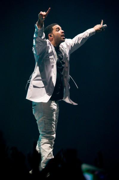 Drake en concert à Paris Bercy, le 24 février 2014.
