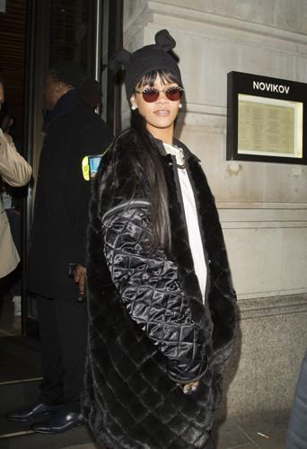 Rihanna à Londres le 27 mars 2014