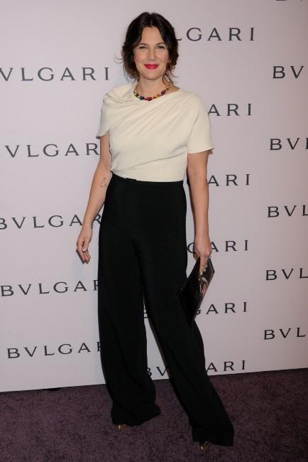 """Drew Barrymore lors de la soirée """"Bvlgari's Celebration of Elizabeth Taylor's Collection"""" à Beverly Hills, le 19 février 2013."""