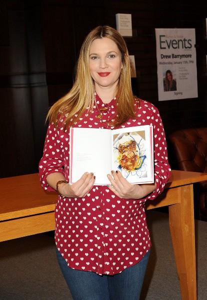 Drew Barrymore en promo pour son livre à Los Angeles, le 15 janvier 2014.