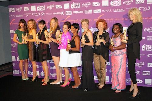 Camille Muffat nommée Femme d'Exploit lors du Trophée des Femmes en Or à Nice en 2011