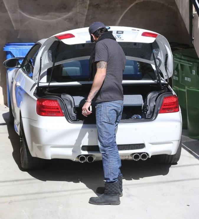 Eduardo Cruz à la sortie de chez Eva Longoria le 30 janvier 2013 à Los Angeles