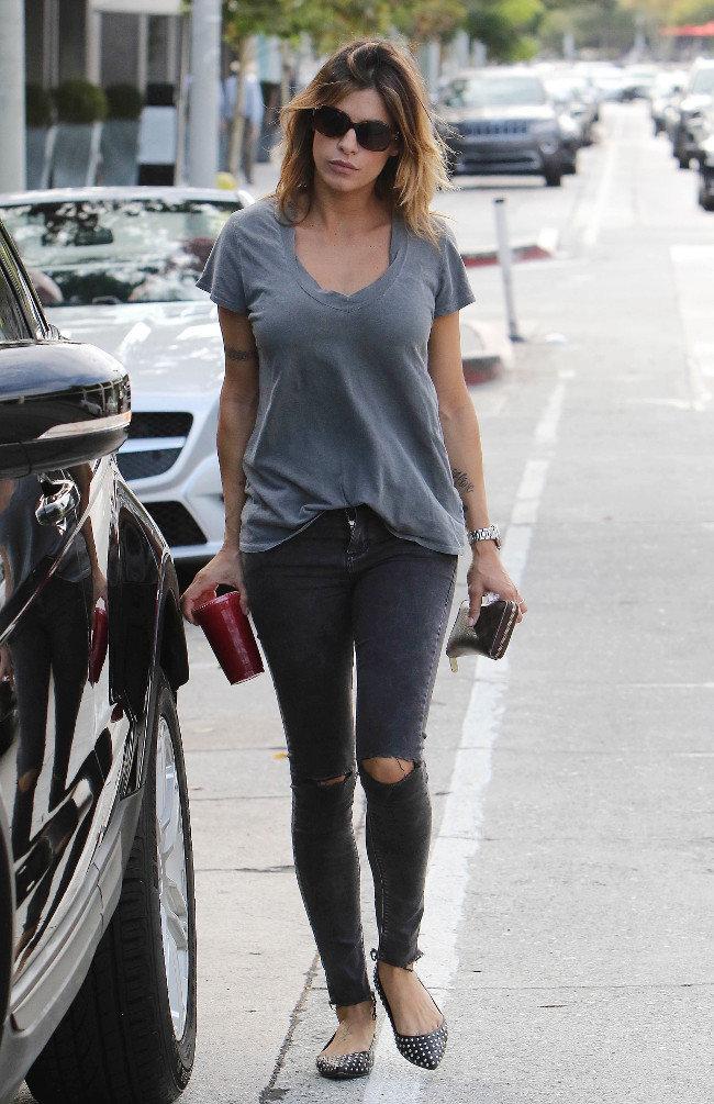 Elisabetta Canalis à Los Angeles le 15 octobre 2015