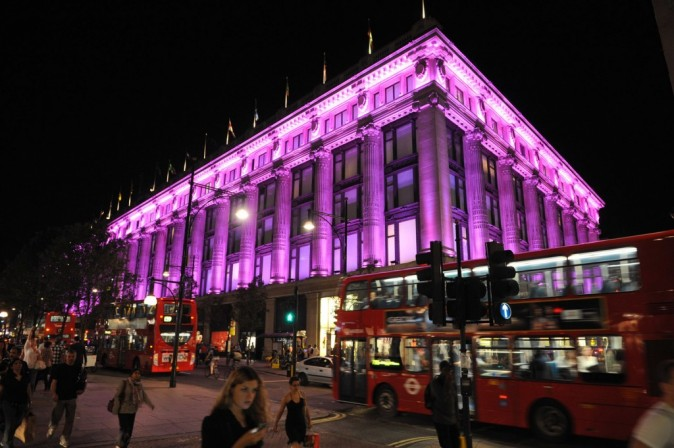 Le grand magasin Selfridges à Londres.