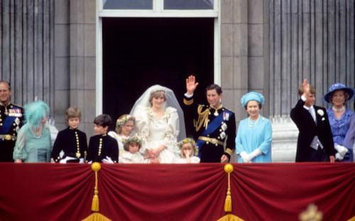 Mariage de la princesse Diana et du prince Charles, le 29 juillet 1981