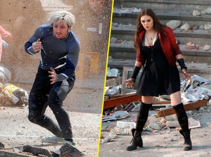 Aaron Taylor-Johnson et Elizabeth Olsen en Italie le 24 mars 2014