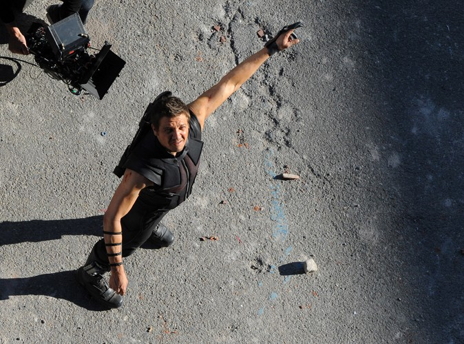 Jeremy Renner en Italie le 24 mars 2014