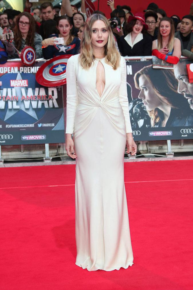 Elizabeth Olsen à Londres ce mardi