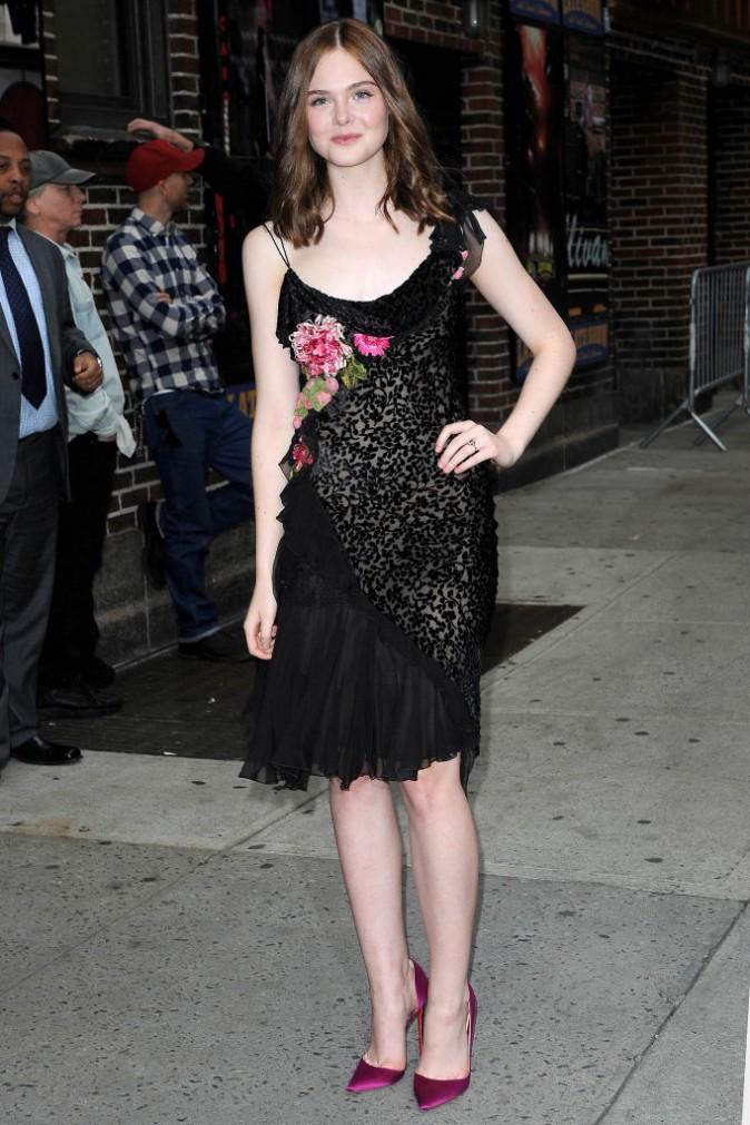 Elle Fanning à New York le 9 octobre 2014