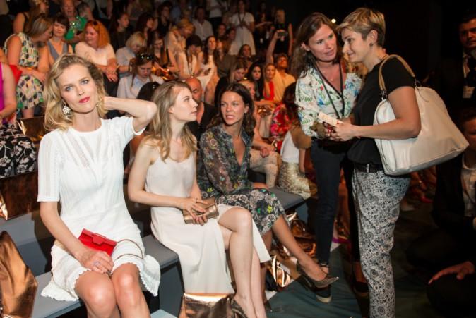 Photos : Elle Macpherson et Eva Herzigova : bombes blondes au top à Berlin !