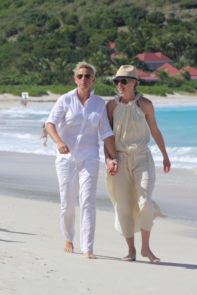 Ellen DeGeneres et Portia de Rossi à Saint-Barth pour Noël