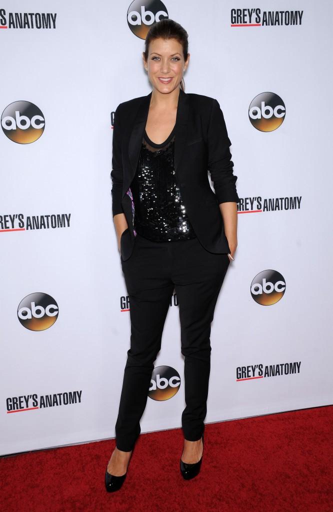 Kate Walsh fêtant le 200ème épisode de Grey's Anatomy à Hollywood le 28 septembre 2013