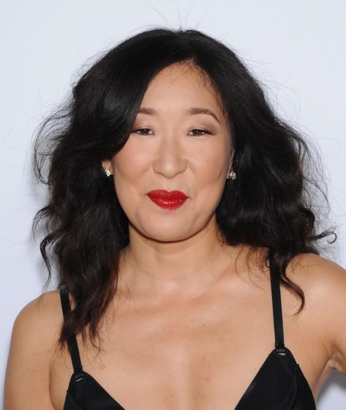Sandra Oh fêtant le 200ème épisode de Grey's Anatomy à Hollywood le 28 septembre 2013