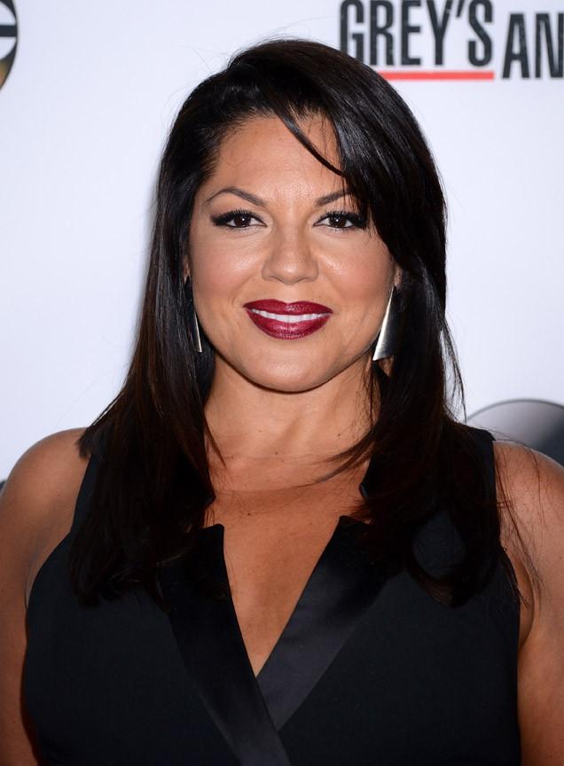 Sara Ramirez fêtant le 200ème épisode de Grey's Anatomy à Hollywood le 28 septembre 2013