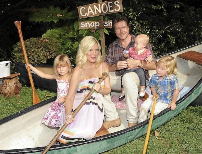 Tori Spelling et sa famille