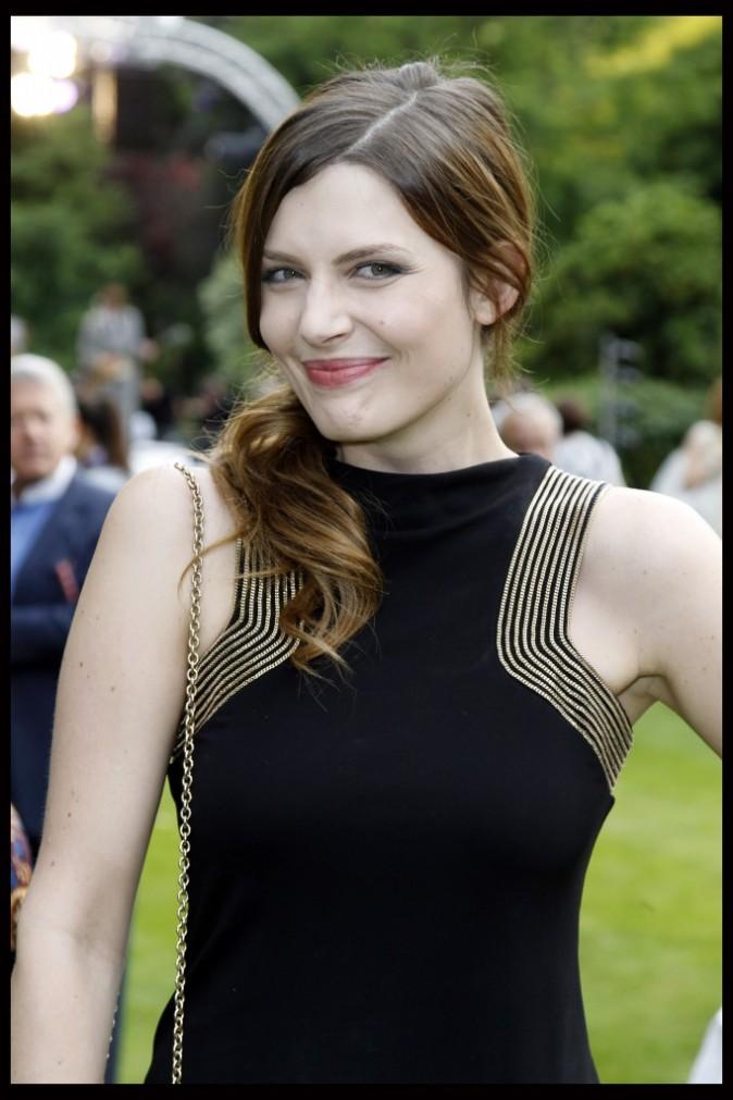 Elodie Frégé lors de la soirée Cartier à Paris, le 2 juillet 2012.