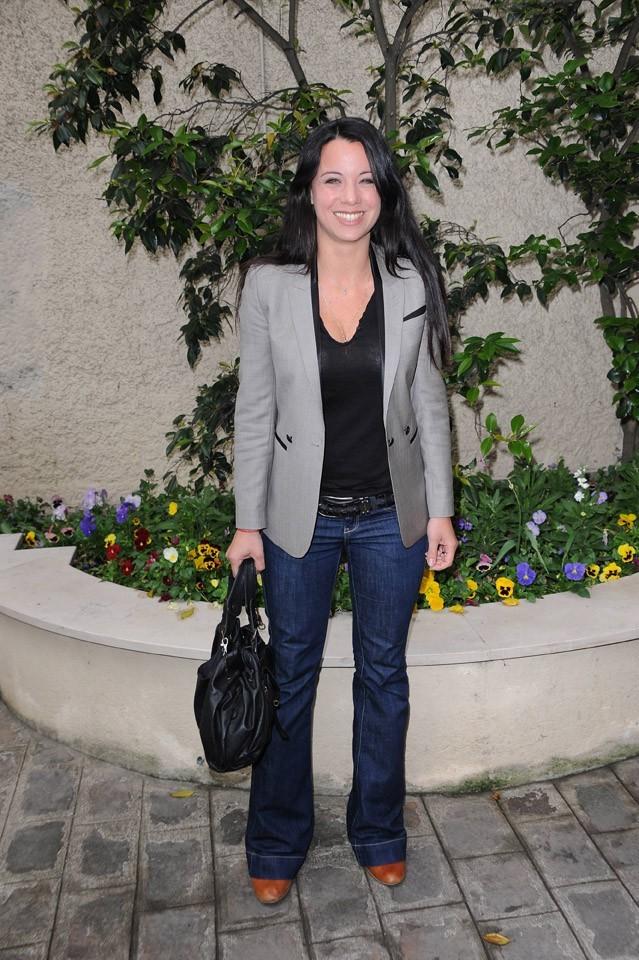 Anne-Gaelle Riccio lors de la conférence de presse de La Flamme Marie-Claire à Paris, le 02 mai 2011.