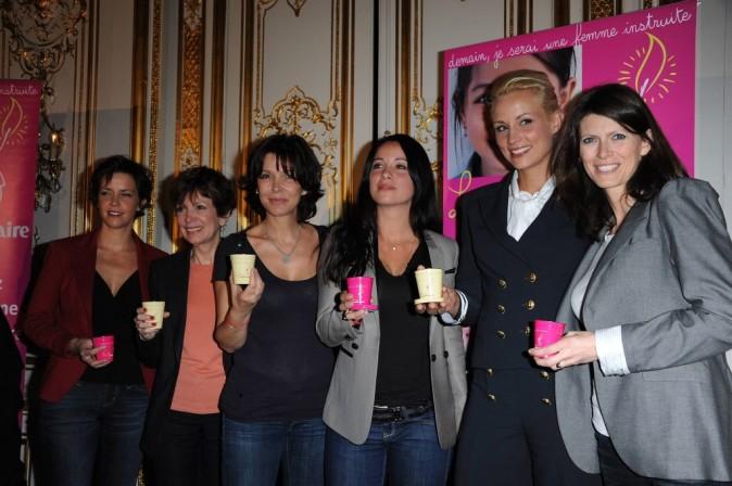 Conférence de presse de La Flamme Marie-Claire à Paris, le 02 mai 2011.