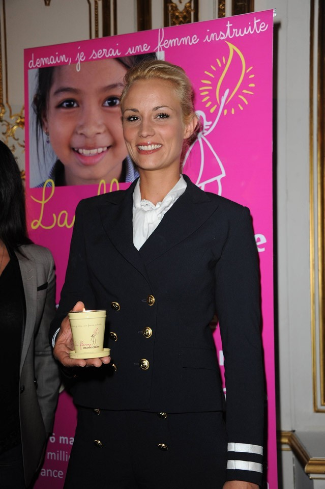 Elodie Gossuin lors de la conférence de presse de La Flamme Marie-Claire à Paris, le 02 mai 2011.