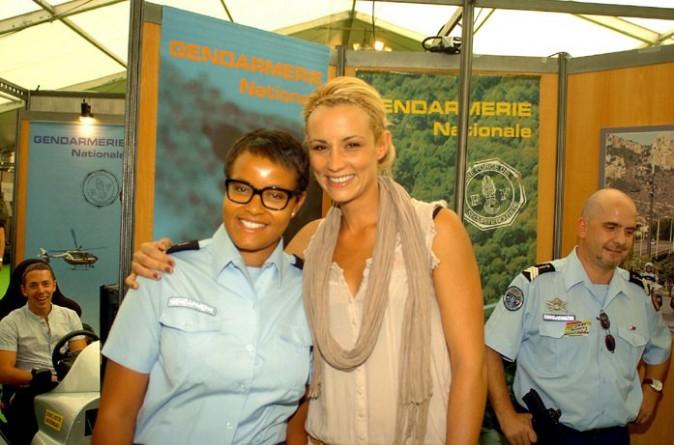 Elodie aurait bien aimé porter l'uniforme !