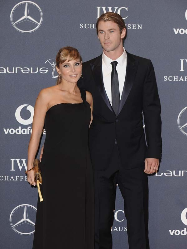 Elsa Pataky et Chris Hemsworth sur le tapis rouge des Laureus World Sports Awards