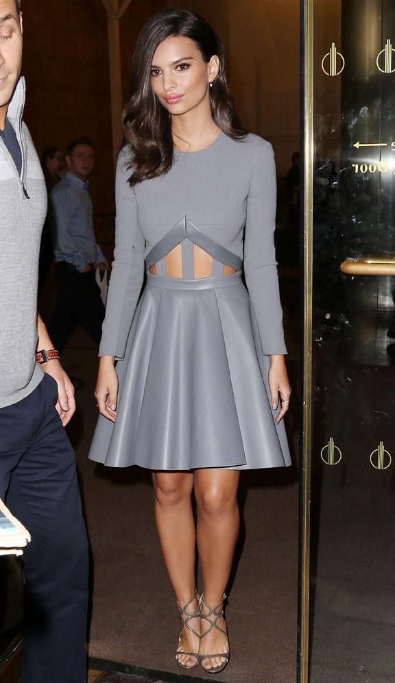 Emily Ratajkowski à New-York le 6 octobre 2014