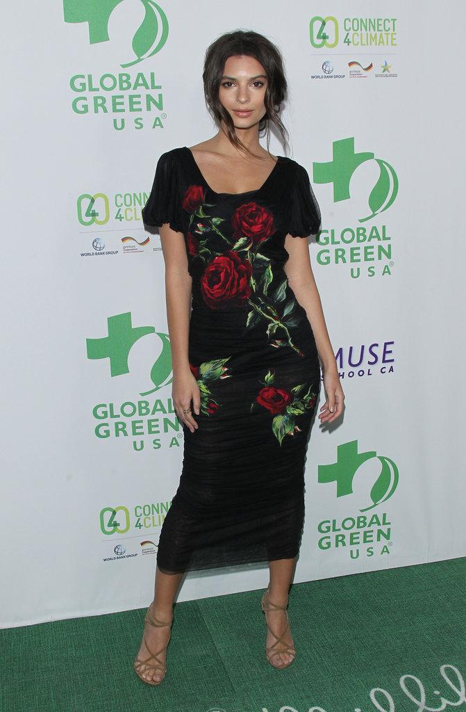 Emily Ratajkowski, sublime à la soirée Global Green USA des Pré-Oscar