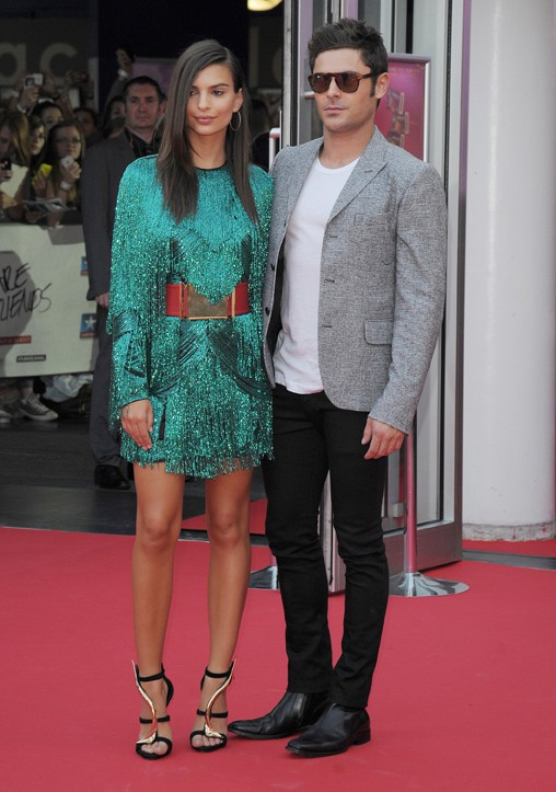 Emily Ratajkowski et Zac Efron à Lomme le 12 août 2015