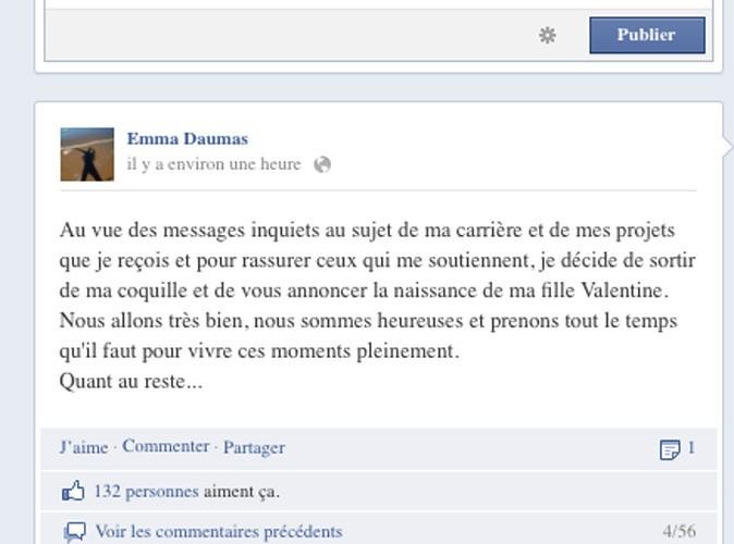 La chanteuse a annoncé l'heureuse nouvelle à ses fans sur Facebook