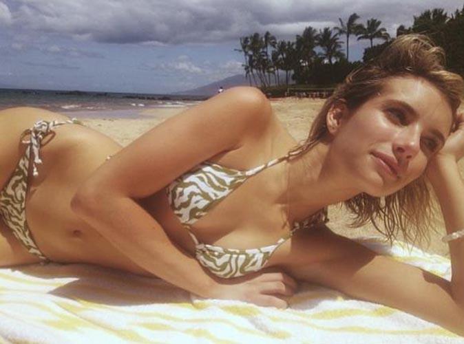Emma Roberts : elle joue les belles naïades à Hawaï !