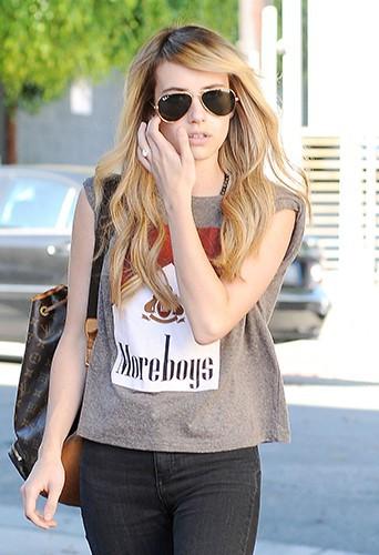 Emma Roberts à Los Angeles le 4 août 2014