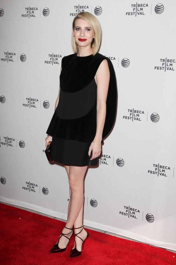 """Emma Roberts lors de la première du film """"Palo Alto"""" à New York, le 24 avril 2014."""