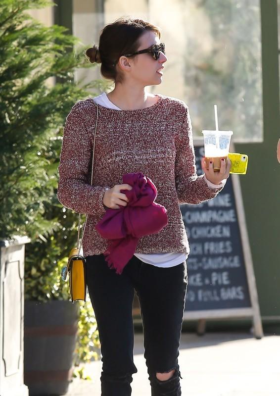 Emma Roberts le 7 janvier 2013 à New York