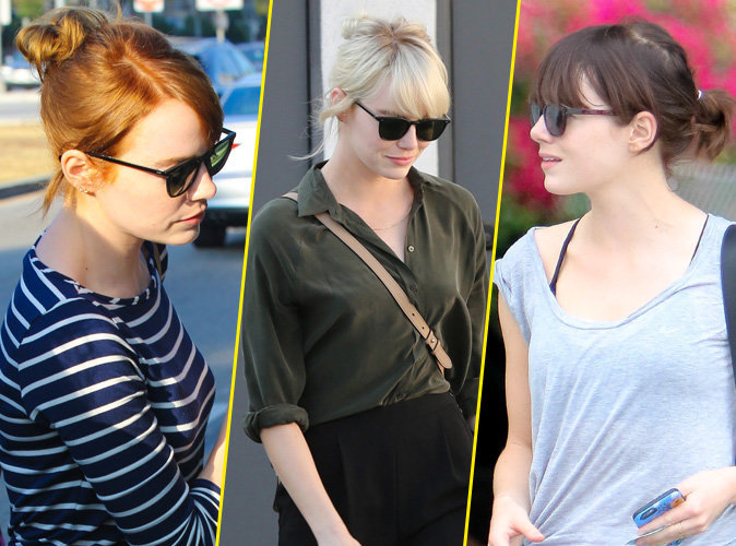 Photos : Emma Stone : Brune, blonde puis rousse en seulement 1 mois !