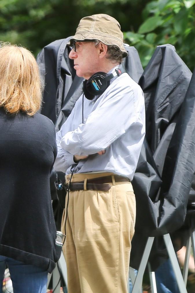 Woody Allen le 28 juillet sur le tournage de son prochain film.