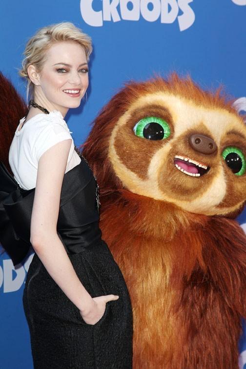 Emma Stone à l'avant-première de The Croods à New-York le 10 mars 2013