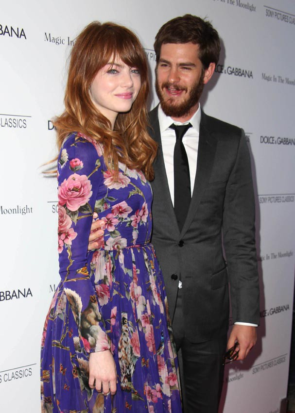 Emma Stone et Andrew Garfield à l'avant-première de Magic In The Moon Light, à New-York, le 17 juillet 2014