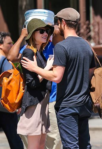 Emma Stone et Andrew Garfiled à New York le 16 juin 2014